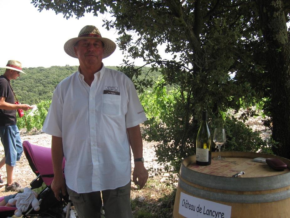 zzz Bernard Durand du Chateau de Lancyre en AOC Coteaux du Languedoc Pic Saint Loup