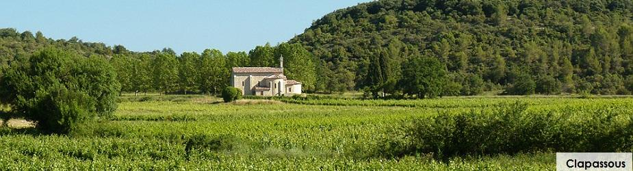 Vignes Chapelle Aleyarc Chateau de Lancyre AOC Coteaux du Languedoc Pic Saint Loup
