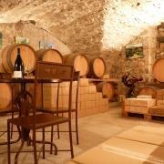 zzz Caveau de vente dégustation du Château de Lancyre AOC Coteaux du Languedoc Pic Saint Loup